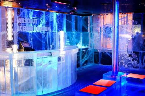 Ice Bar in London - Inside view