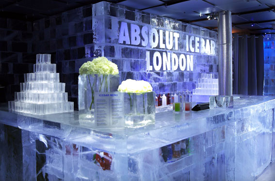 Ice Bar in London - Interior view