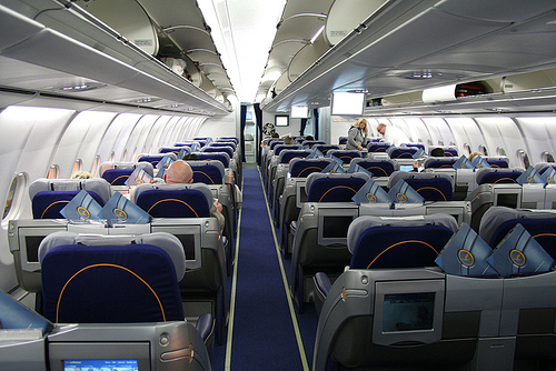 Lufthansa Airlines - Inside view
