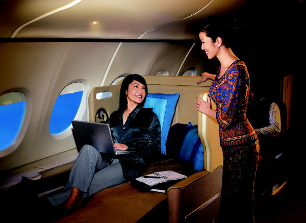 Singapore Airlines - Relaxation and cosiness