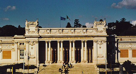 Galleria Nazionale d'Art Moderna in Rome, Italy - Exterior view