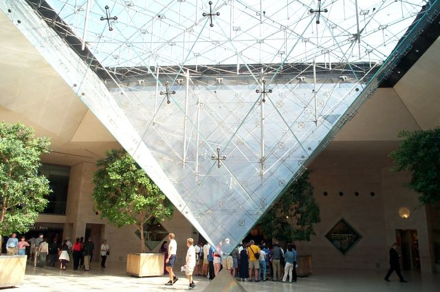 Louvre Museum in Paris, France - The Pyramid