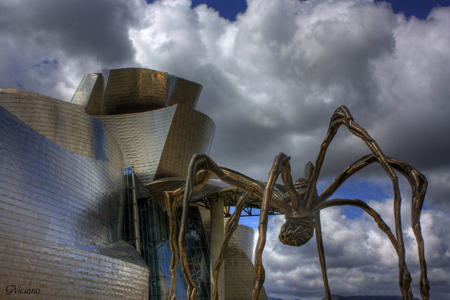 Guggenheim Museum in Bilbao, Spain - Exterior view
