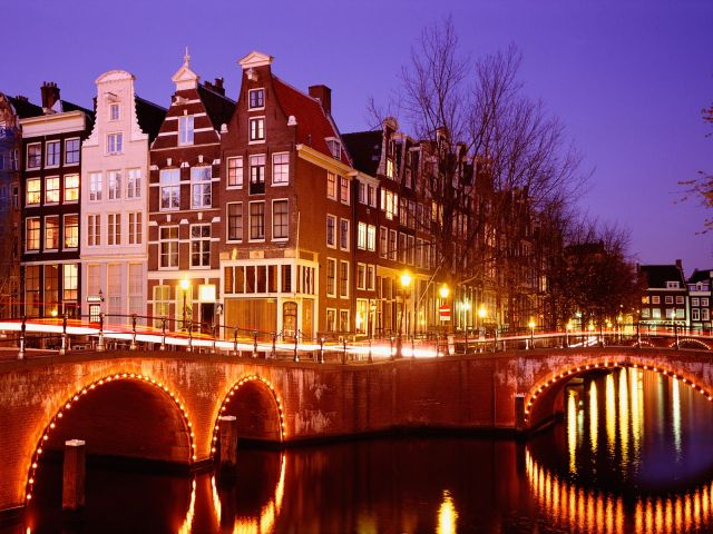 Amsterdam in Netherlands - Night view