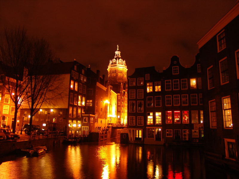 Amsterdam in Netherlands - Red Light District