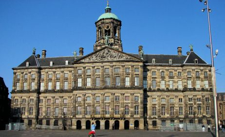 Amsterdam in Netherlands - Royal Palace in Dam Square