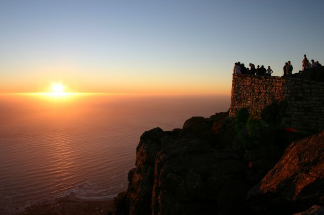 Cape Town in South Africa - Sunset view from the Table Mountain