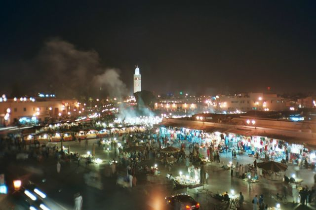 Marrakech in Morocco - Night view
