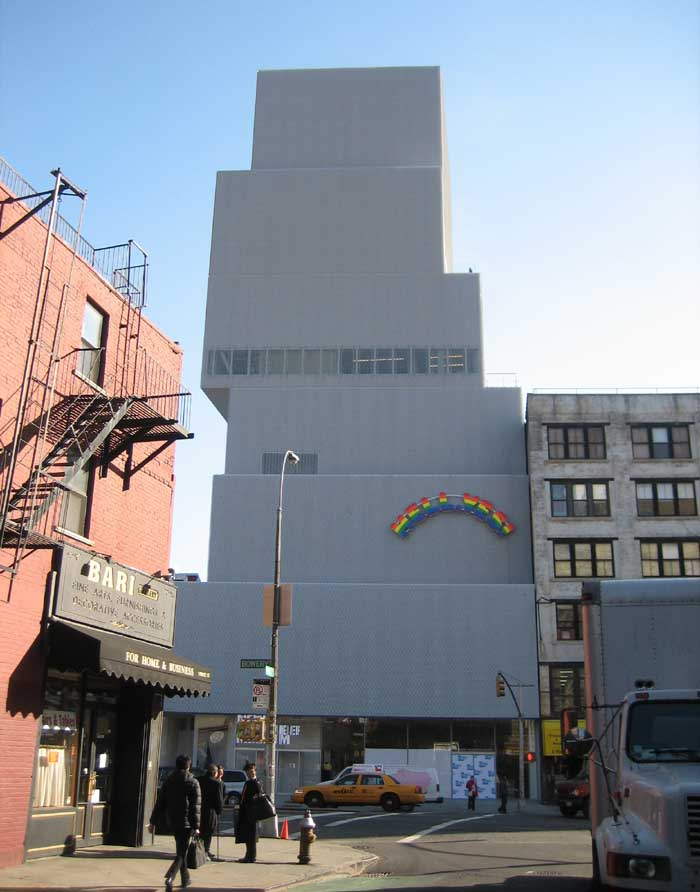 New York - New Museum of Contemporary Art in downtown Manhattan
