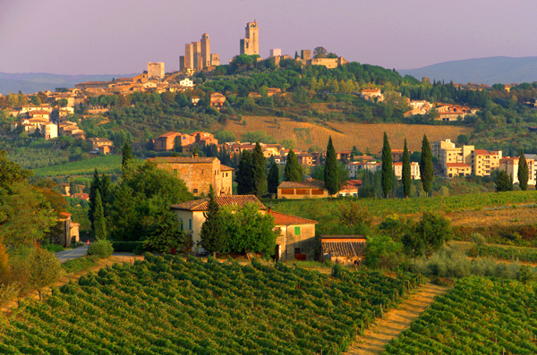 Tuscany in Italy - General view