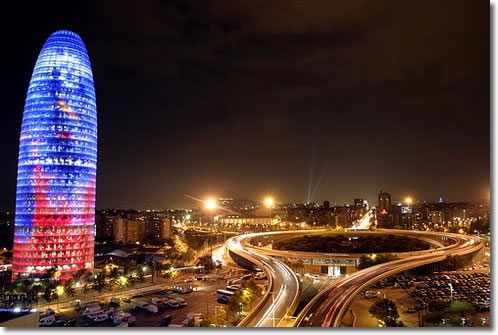 Barcelona in Spain - Agbar Tower