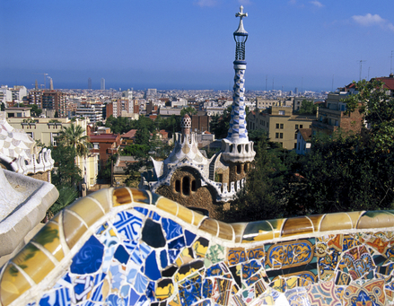 Barcelona in Spain - City view