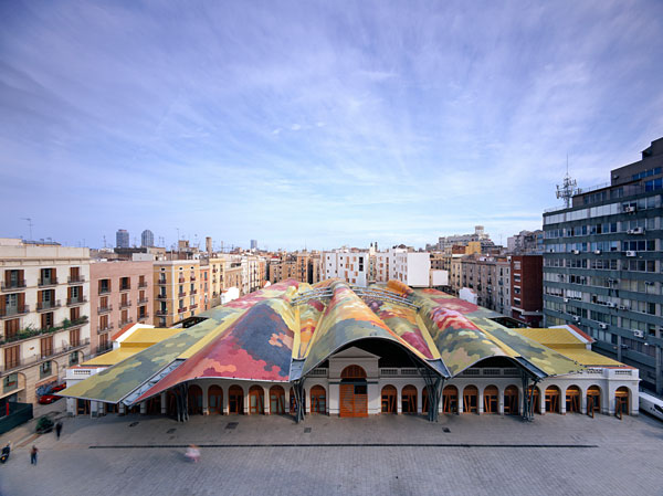 Barcelona in Spain - Santa Caterina Market