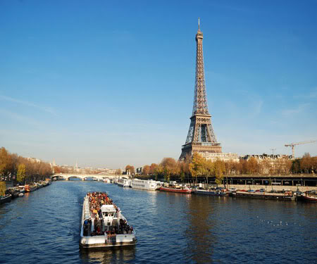 Paris in France - Seine River