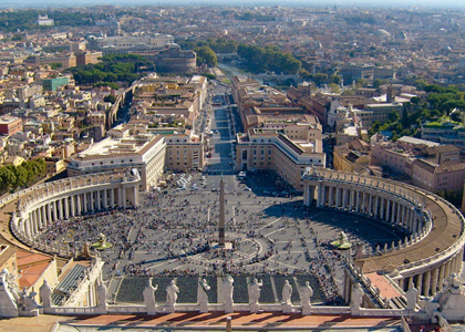 Rome in Italy - Aerial view