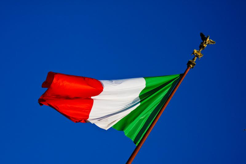 Rome in Italy - Flag of Italy