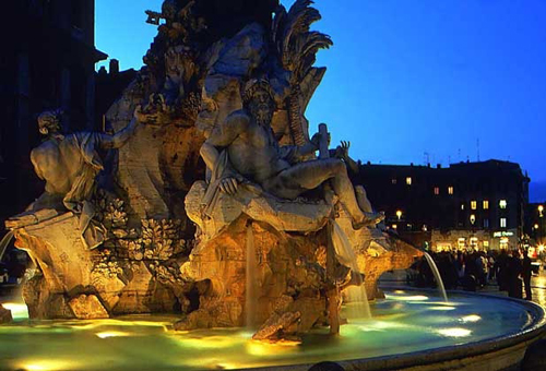 Rome in Italy - Piazza Navona view