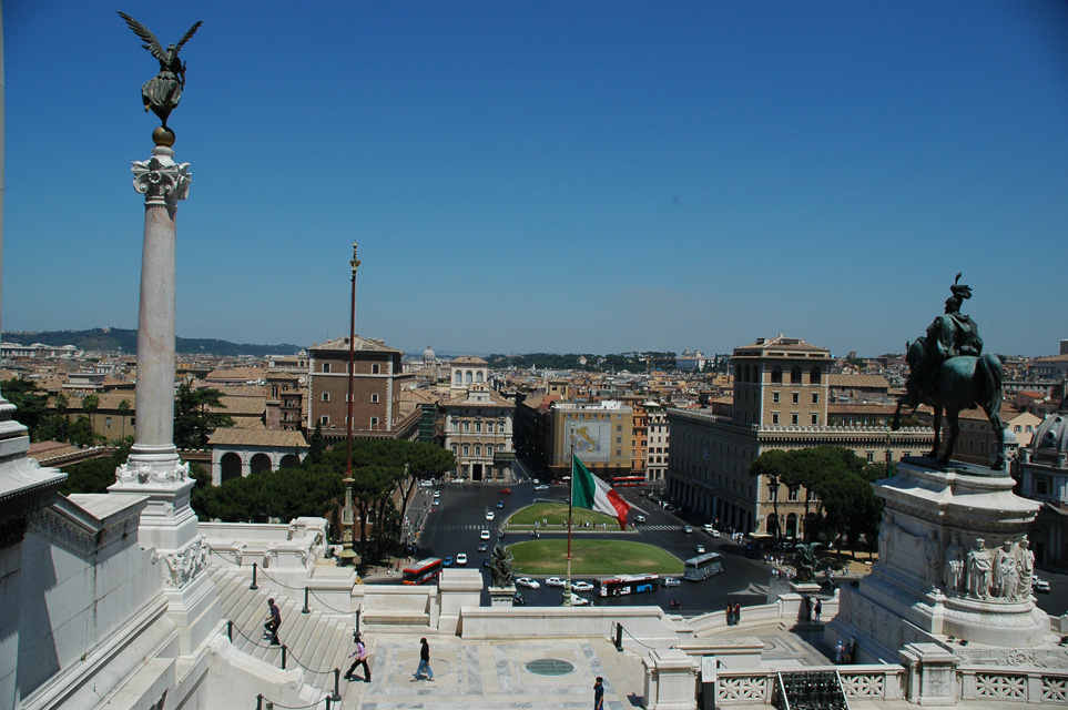 Rome in Italy - Piazza Venezia view