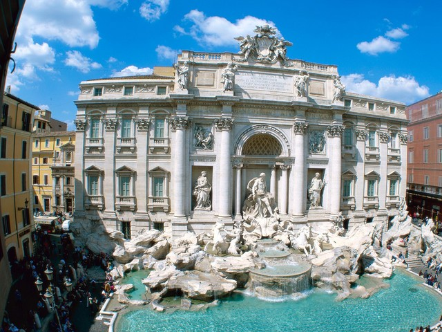 Rome in Italy - Trevi Fountain