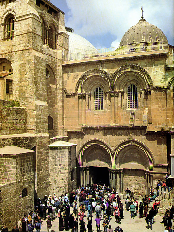 Church of the Holy Sepulchre in Jerusalem, Israel - Facade