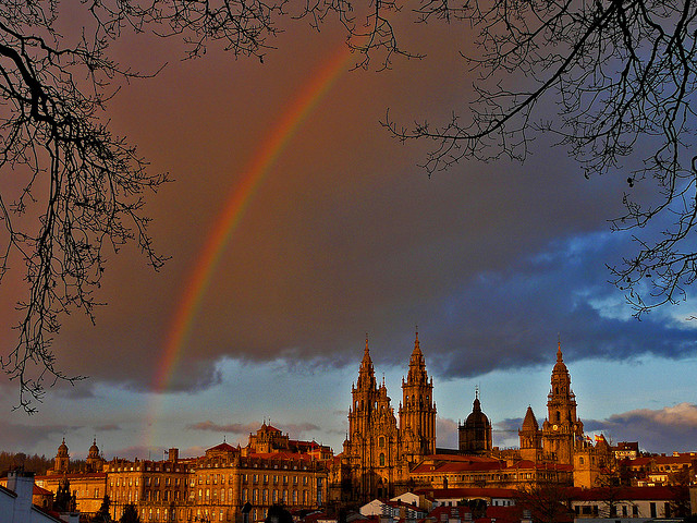 Santiago de Compostela Cathedral in Spain - Cathedral general view