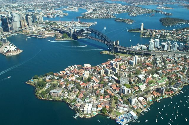 Sydney in Australia - Aerial view of the Harbour Bridge