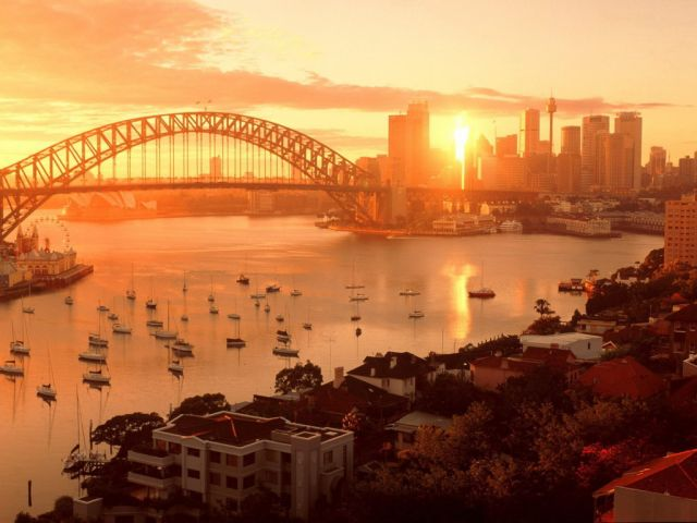Sydney in Australia - Beautiful sunset over Sydney
