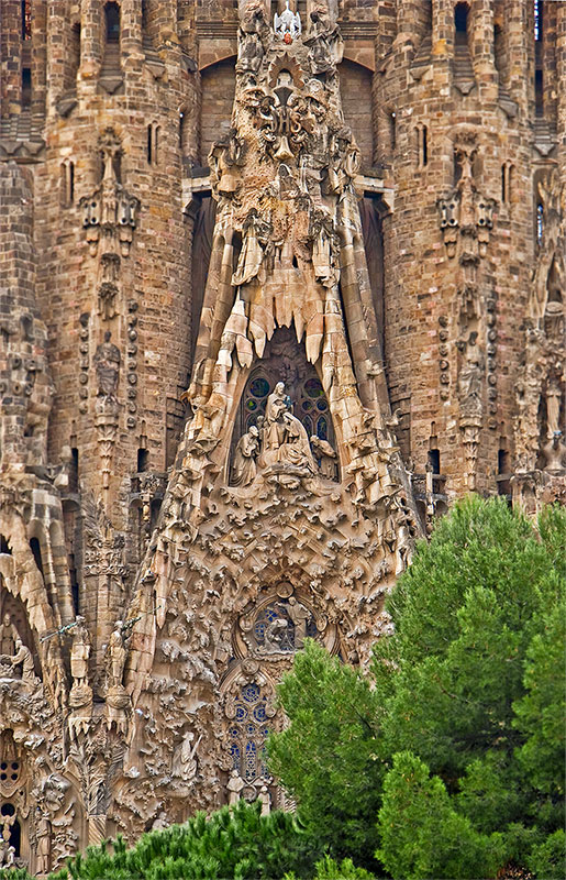 Sagrada Familia in Barcelona, Spain - Architectural elements