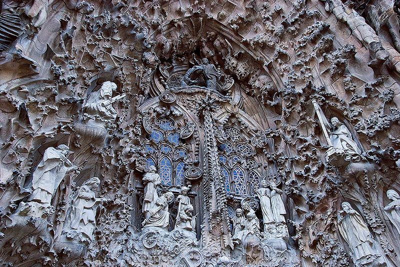 Sagrada Familia in Barcelona, Spain - Architecture details