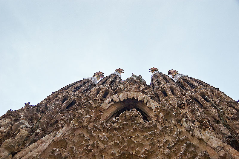 Sagrada Familia in Barcelona, Spain - Facade view