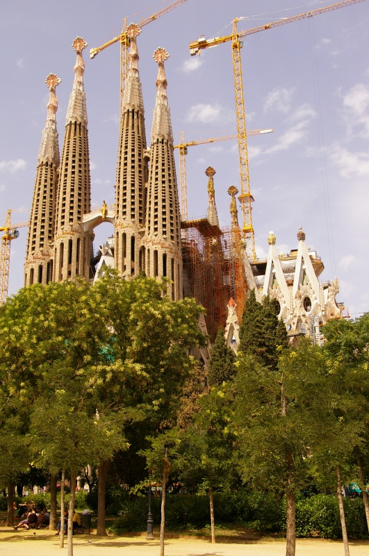 Sagrada Familia in Barcelona, Spain - General view