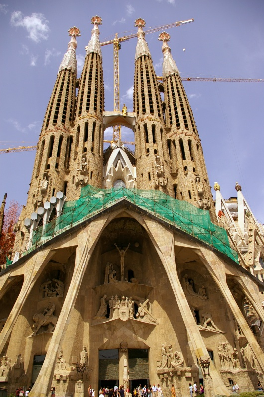 Sagrada Familia in Barcelona, Spain - Sagrada Familia view