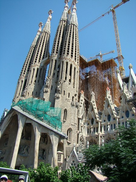 Sagrada Familia in Barcelona, Spain - Side view
