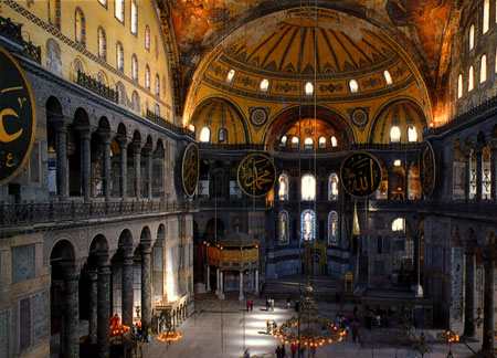 Hagia Sophia in Istanbul, Turkey - Inside view