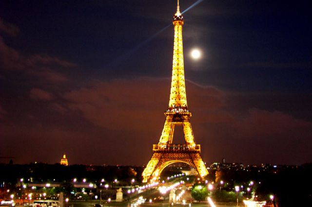 Images Eiffel Tower In Paris France Night View 2396