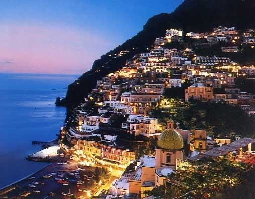 Positano - Night view of Positano