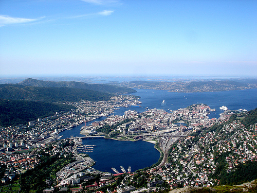 Norway - Aerial view of Bergen