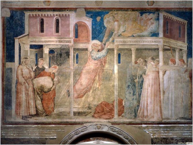 Images Basilica Santa Croce Giotto fresco 6549