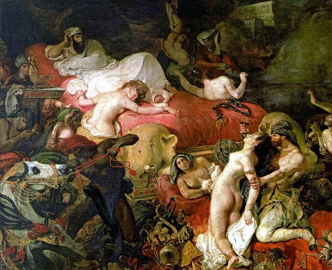 Louvre Museum in Paris, France - Death of Sardanapalus by Eugene Delacroix