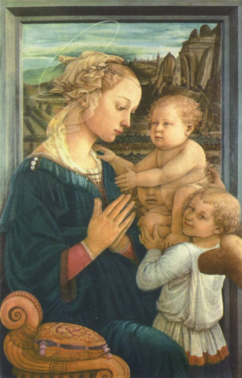 Uffizi Gallery - Madonna with Child and Two Angels by Fra Filippo Lippi
