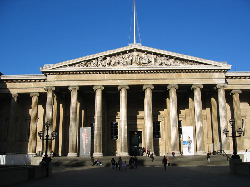 The British Museum in London - Facade of the museum