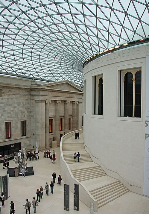 The British Museum in London - Great Court view