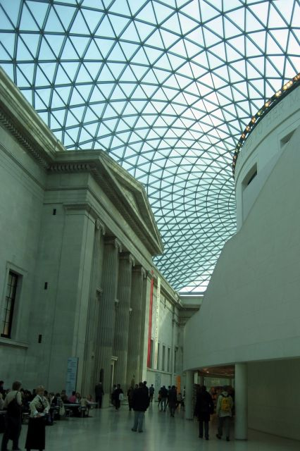 The British Museum in London - Interior view