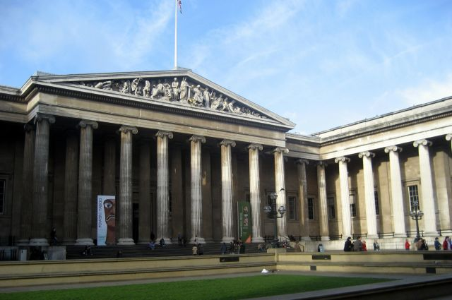 The British Museum in London - Museum exterior view