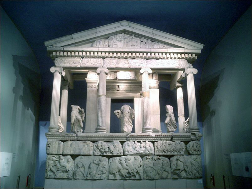 The British Museum in London - Nereid Temple in the Department of Greek and Roman Antiquities