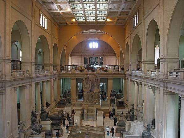 Egyptian Museum in Cairo - Inside view