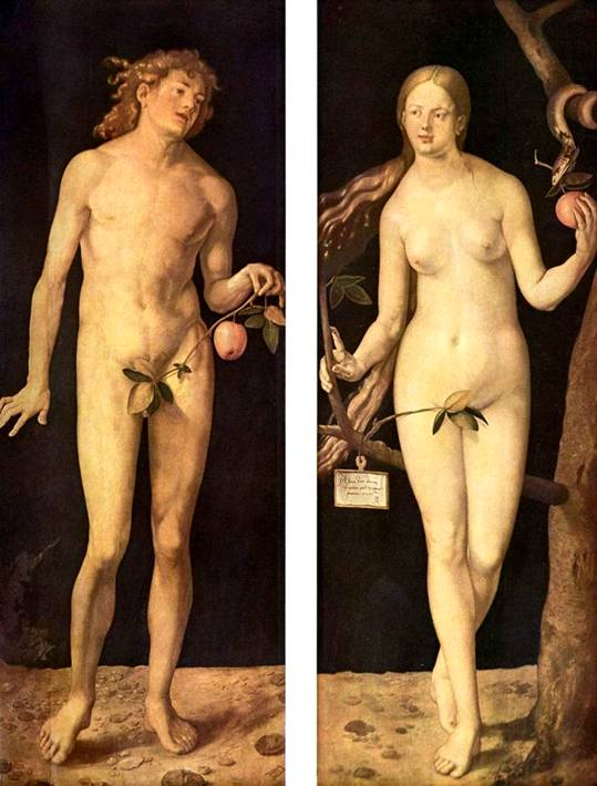 Museo del Prado in Madrid - Adam and Eve by Albrecht Durer