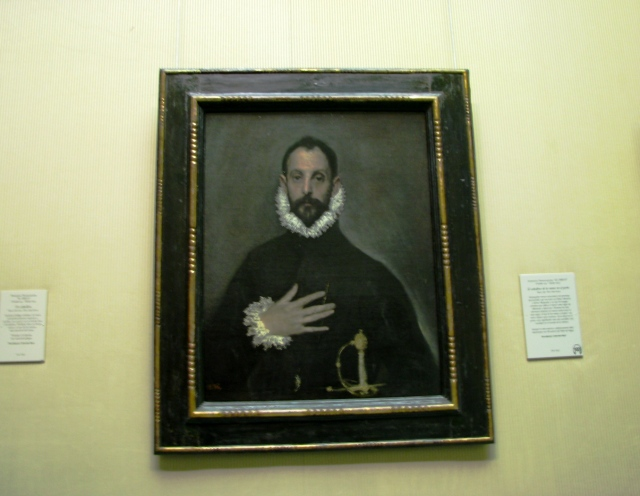 Museo del Prado in Madrid - Knight with his hand on his Breast by El Greco