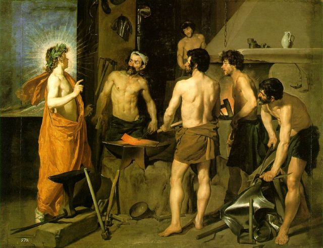 Museo del Prado in Madrid - The Forge of Vulcan by by Diego Velázquez