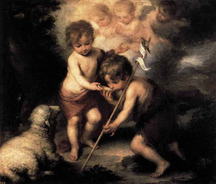 Museo del Prado in Madrid - The Holy Children with a Shell by Murillo